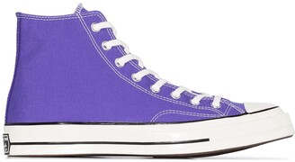 Converse Purple Chuck 70 classic canvas high top sneakers