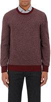 Luciano Barbera Men's Cashmere Stockinette-Stitched Sweater-BURGUNDY