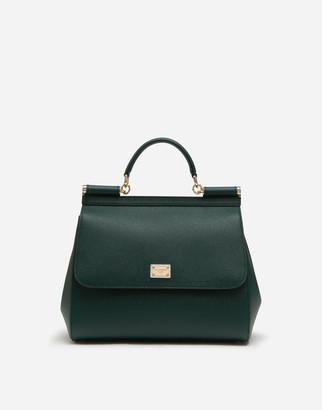 Dolce & Gabbana Regular Sicily Bag In Dauphine Leather