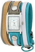 La Mer Women's LMLWMIX1004 Windward Mix-Up Layer Wrap Watch