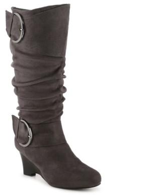 Journee Collection Irene-1 Wide Calf Wedge Boot