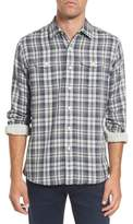Grayers Men's Saratoga Modern Fit Plaid Double Cloth Sport Shirt