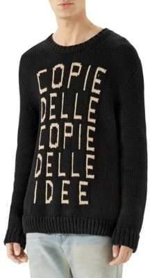 Gucci Knit Text Sweater