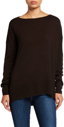 Lafayette 148 New York Fine-Gauge Merino Wool Bateau-Neck Sweater