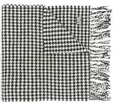 Ami Alexandre Mattiussi houndstooth fringed scarf