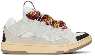 Lanvin White Calfskin Curb Sneakers