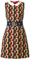 Gucci belted print dress
