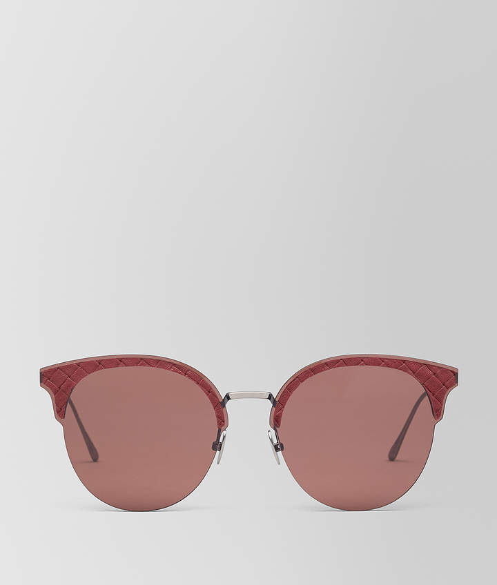 Bottega Veneta RED METAL SUNGLASSES