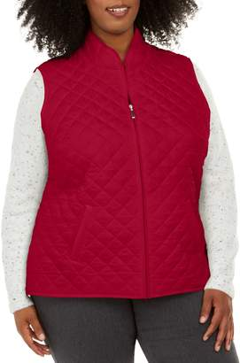 Karen Scott Plus Quilted Puffer Vest