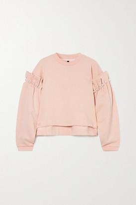 Mother of Pearl Dani Faux Pearl-embellished Organic Cotton-jersey Sweatshirt - Pastel pink