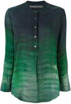 Raquel Allegra Tie-dyed henley shirt - women - Cotton - 1