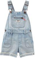 Osh Kosh Baby Girl Frayed Cuff Denim Shortalls