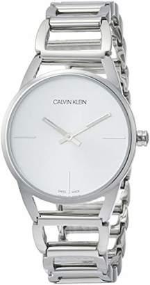 Calvin Klein Women's Quartz Watch stately K3G23126 with Metal Strap