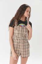 Weworewhat WeWoreWhat Moto Plaid Shortall Overall