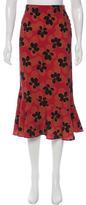 Suno Floral Print Midi Skirt w/ Tags