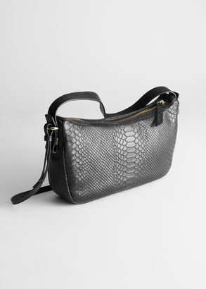 And other stories Snake Embossed Leather Bag