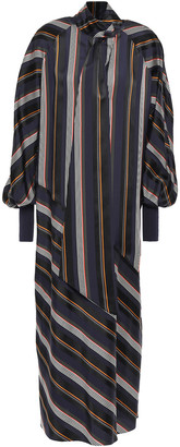 Roksanda Striped Jacquard Midi Dress
