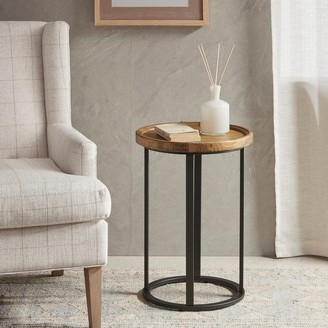 Martha Stewart Reclaimed Oak/Iron Round Accent Table