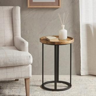 Martha Stewart Coyne Glass Top Frame End Table Shopstyle