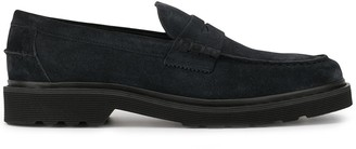 Tod's chunky sole textured penny loafers