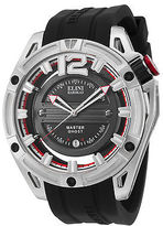 Elini Barokas 20016-01 Men's Master Ghost Black Silicone and Dial SS