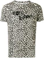 Marc Jacobs logo leopard print T-shirt