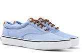 Sperry Cvo Chambray Blue Canvas Trainers