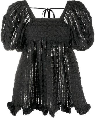 Cecilie Bahnsen Vega puff-sleeve blouse