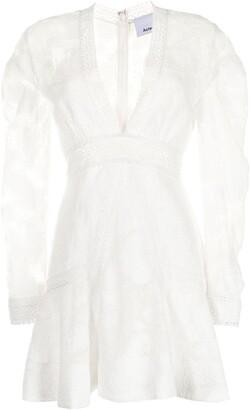 Acler Godson lace flared dress