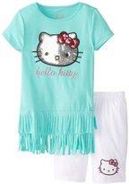 Hello Kitty Girls 7-16 Fringe Tunic with Bike Shorts Clothing Set