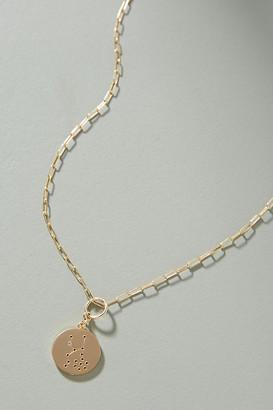 14K Gold Zodiac Charm Necklace By Thatch in Zodiac Size ALL