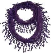 Lulu Deep Purple Aubergine Lace Infinity Scarf