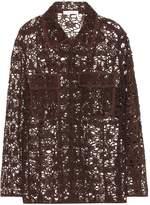 Chloé Long sleeve floral lace jacket