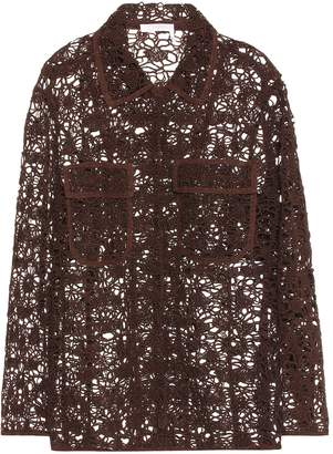 Chloé Long sleeve floral lace jacket