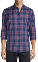 Vince Manhattan Plaid Long-Sleeve Sport Shirt, Rhubarb Combo