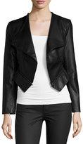 Yumi Kim Lulu Open-Front Faux-Leather Jacket, Black