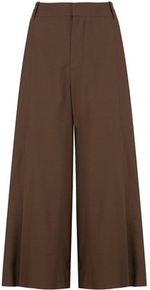 Vince Cropped Wide-Leg Trousers