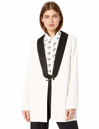 Cupcakes And Cashmere Women's Barrington Crepe Shawl Collar Blazer