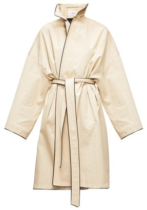 Balenciaga Cocoon Single-breasted Gabardine Trench Coat - Beige