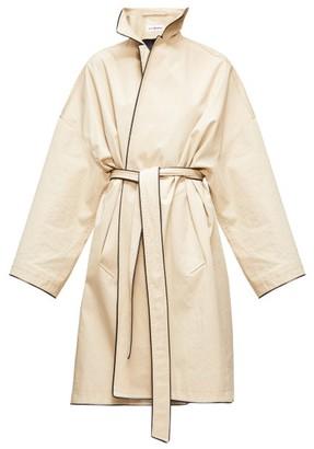 Balenciaga Cocoon Single-breasted Gabardine Trench Coat - Womens - Beige