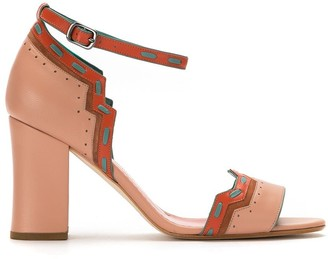 Sarah Chofakian Panelled Sandals