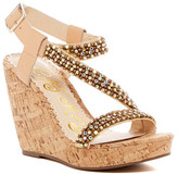 Naughty Monkey Sugar Rush Embellished Platform Wedge Sandal