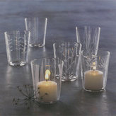 Etched Botanical Candleholder Votives
