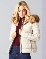Vero Moda Faux Fur Trim Puffer Jacket