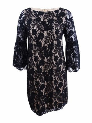 Jessica Howard JessicaHoward Women's Lace Shift Dress with Bell Sleeves