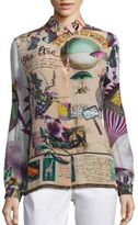 Etro Postcard Button Front Top