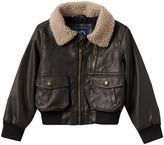 Chaps Toddler Boy Faux-Leather Bomber Jacket