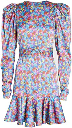 Rotate by Birger Christensen Shelly Puff Sleeve Mini Dress