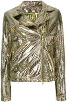 Giorgio Brato metallic biker jacket