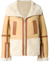Courreges oversized zipped aviator jacket
